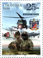 [The 25th Anniversary of the Reactivation of the Air Force of the National Army of Colombia, type DHS]