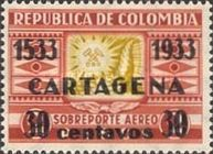 [The 400th Anniversary of Cartagena City - Previous Issues Surcharged, Typ JI]