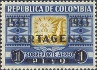 [The 400th Anniversary of Cartagena City - Previous Issues Surcharged, Typ JJ]