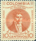 [Airmail - Pan-American Press Congress, Bogota, Typ OS]