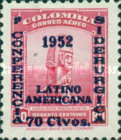 [Airmail - The 1st Latin-American Congress of Iron Specialists - Previous Issue Surcharged, Typ SZ]