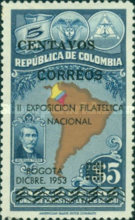 [The 2nd National Philatelic Exhibition, Bogota - Surcharged, Typ TQ]