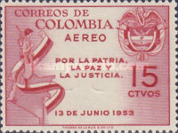 [Airmail - The 1st Anniversary of the 1953 Coup, Typ UM]