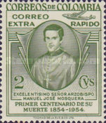 [Airmail - Stamps for Domestic Airmail and 100th Anniversary of the Death of Archbishop Manuel Jose Mosquera, 1800-1853, Typ UZ]