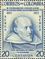[Airmail - The 300th Anniversary of Senior College of Our Lady of the Rosary, Bogota, Typ VC1]