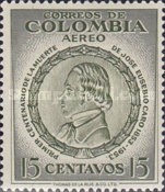 [Airmail - The 100th Anniversary of the Death of Jose Eusebio Caro, 1817-1853, Typ WR]