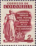 [The 125th Anniversary of the Death of Jose Matias Delgado, Champion of Independence, Typ XXF]