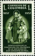 [The 100th Anniversary of Colombian Order of St. Vincent de Paul, Typ XXH]