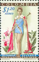 [Airmail - The 1959 Miss Universe Pageant, Typ XZ1]
