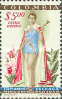 [Airmail - The 1959 Miss Universe Pageant, Typ XZ2]