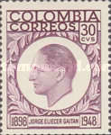 [The Death of Jeorge Gaitan, 1898-1948 - Unspent Stamps Surcharged, Typ YA1]