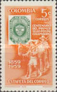 [The 100th Anniversary of Colombian Stamps - Inscribed