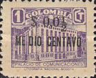 [Postal Tax Stamps of 1939 Surcharged, type G]