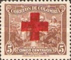 [Red Cross - Colombia Postage Stamp of 1939 Overprinted, type J]