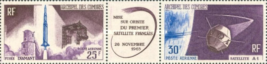 [Airmail - Launching of 1st French Satellite, type ]