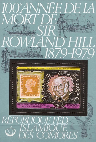 [Airmail - The 100th Anniversary of the Death of Sir Rowland Hill, 1795-1879, type ]