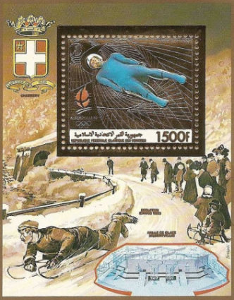 [Airmail - Winter Olympic Games - Albertville 1992, France - Medal Winners at Previous Games, type ]