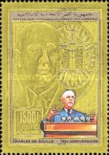 [Airmail - The 100th Anniversary of the Birth of Charles de Gaulle, 1890-1970, type ]