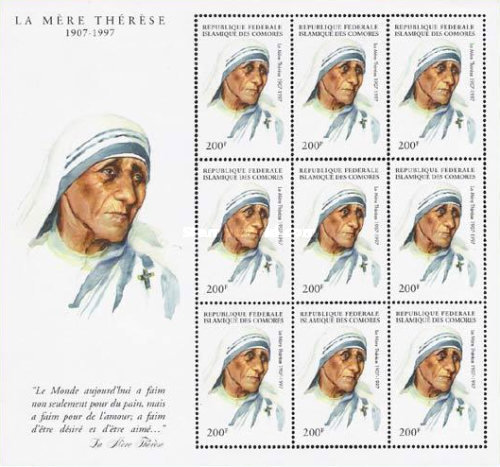 [The Death of Mother Teresa, 1910-1997, Typ ]