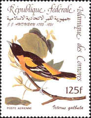[Airmail - Birds - The 200th Anniversary of the Birth of John J. Audubon, type AAF]