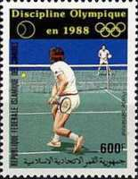 [Airmail - Tennis as 1988 Olympic Games Discipline, type ACP]