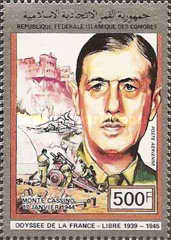 [Airmail - General de Gaulle and the 50th Anniversary of World War II, type AJK]