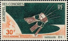 """[Airmail - Launching of Satellite """"D1"""", type BC]"""