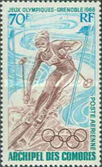 [Airmail - Winter Olympic Games - Grenoble, France, type BO]