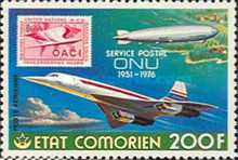 [Airmail - The 25th Anniversary of U.N. Postal Services, type JW]