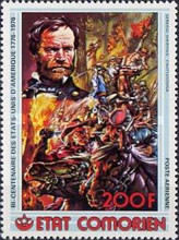 [Airmail - The 200th Anniversary of American Revolution - showing Various Battle Scenes of American Civil War, type KO]