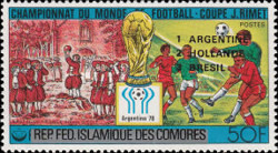 [Argentina's Victory in the Football World Cup - Argentina - Stamps of 1978 Overprinted