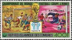 [Airmail - Argentina's Victory in the Football World Cup - Argentina - Stamps of 1978 Overprinted