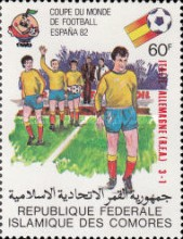 [Football World Cup - Spain - Stamps of 1981 Overprinted Results, type XV]