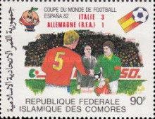 [Football World Cup - Spain - Stamps of 1981 Overprinted Results, type XX]