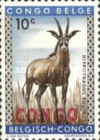 "[Belgian Congo Postage Stamps Overprinted ""CONGO"" - Wild Animals Issue of 1959, type AC]"