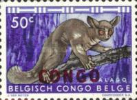 "[Belgian Congo Postage Stamps Overprinted ""CONGO"" - Wild Animals Issue of 1959, type AC1]"