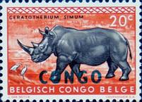 "[Belgian Congo Postage Stamps Overprinted ""CONGO"" - Wild Animals Issue of 1959, type AD]"