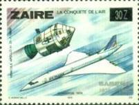 [The 50th Anniversary of SABENA Brussels-Kinshasa Air Service - Issues of 1978 Overprinted