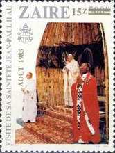[The 2nd Papal Visit - Issues of 1981 Surcharged AOUT 1985, Typ AFN]
