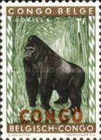 "[Belgian Congo Postage Stamps Overprinted ""CONGO"" - Wild Animals Issue of 1959, type F]"