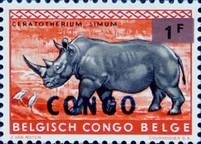 [Various Stamps Surcharged over Colored Metallic Panels - Stamps of Belgian Congo Overprinted