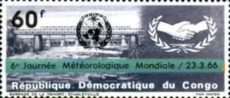 [World Meteorological Day - Issues of 1965 Overprinted