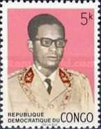 [Coat of Arms and General Mobutu, type LD]