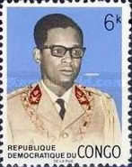 [Coat of Arms and General Mobutu, type LE]