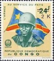 [Surcharged - Congolese Army, type MO]
