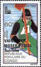 [Airmail - Winter Olympic Games Medal Winners - Issues of 1979 Overprinted with Names of Winners, type AAT]
