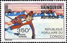 [Airmail - Winter Olympic Games Medal Winners - Issues of 1979 Overprinted with Names of Winners, type AAV]
