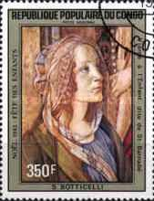 [Airmail - Christmas - Paintings by Botticelli, type AJA]