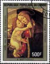 [Airmail - Christmas - Paintings by Botticelli, type AJB]