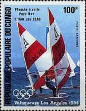 [Airmail - Olympic Games Yachting Gold Medal Winners, type AKR]